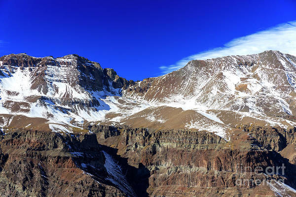 Photograph - Snow On The Top Of The Andes In Chile by John Rizzuto
