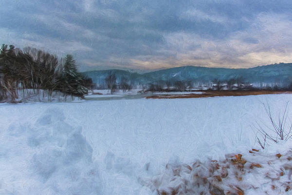 Photograph - Snow On The West River by Tom Singleton