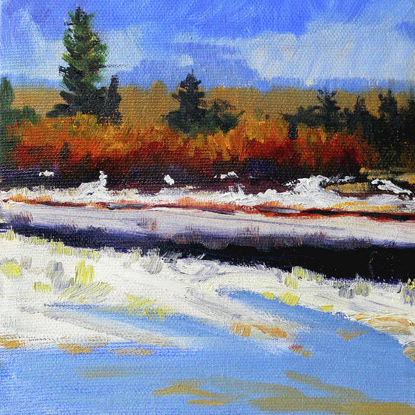 Wall Art - Painting - Snow River by Nancy Merkle