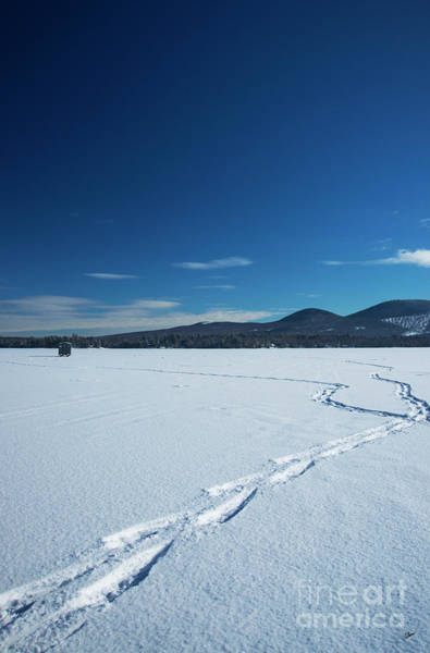 Photograph - Snow Shoeing On The Lake by Alana Ranney