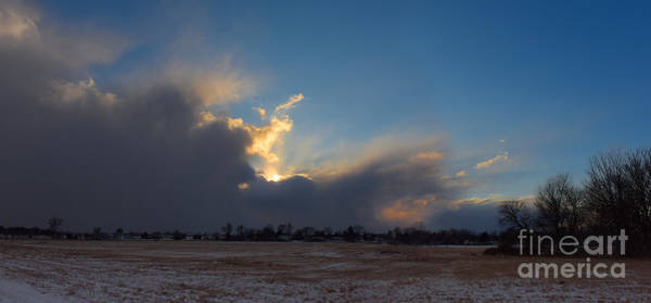 Photograph - Snow Squall At Sunset by Charles Owens
