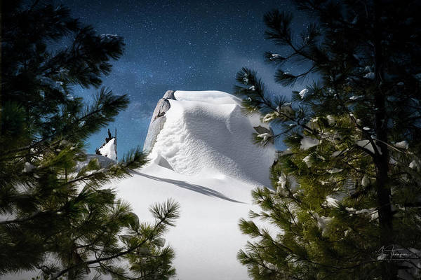 Photograph - Snow  Stars And Moonlight by Jim Thompson