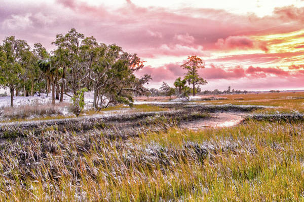 Photograph - Snow Sunset -marsh View by Scott Hansen