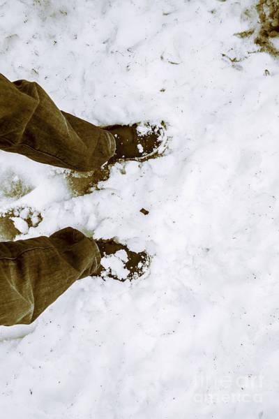 First Snow Wall Art - Photograph - Snow Trekker by Jorgo Photography - Wall Art Gallery