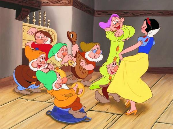Drawing Digital Art - Snow White And The Seven Dwarfs by Maye Loeser