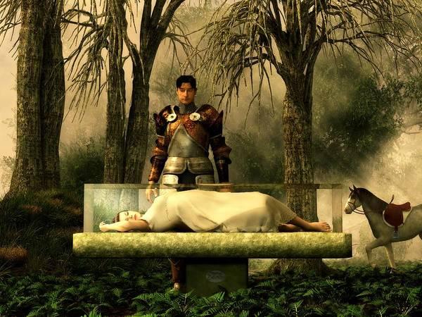 Digital Art - Snow White's Glass Coffin by Daniel Eskridge