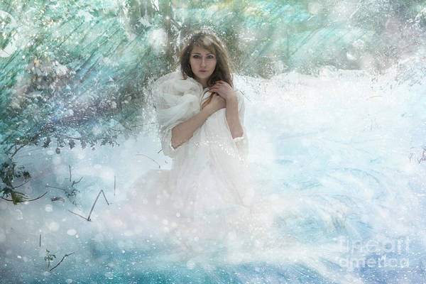 Wall Art - Digital Art - Snow Witch by Angel Ciesniarska