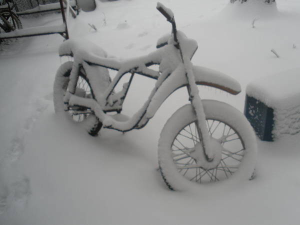 Dirtbike Photograph - Snowbike by Mikki Simon