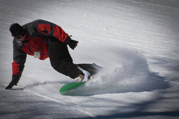 Photograph - Snowboarder On Mccauley by David Patterson