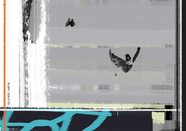 Wall Art - Painting - Snowboarding by Naxart Studio