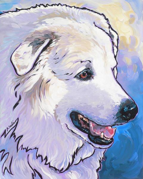 Pyrenees Painting - Snowdoggie by Nadi Spencer