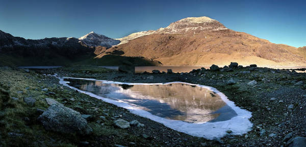 Photograph - Snowdon And Crib Goch From Cym Dyli by Peter OReilly