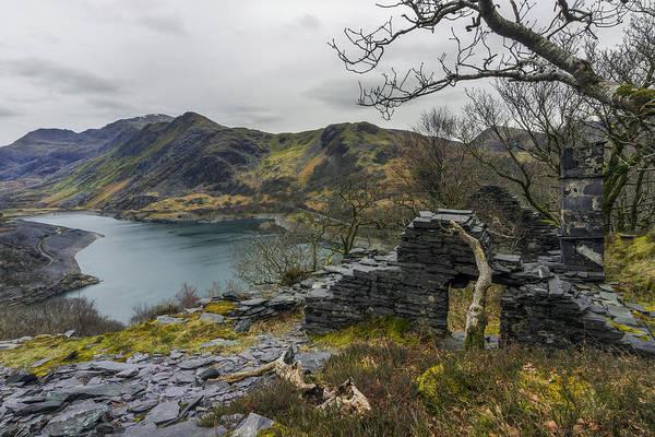 Photograph - Snowdonia Slate House by Ian Mitchell
