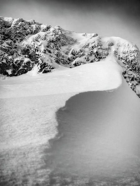Wall Art - Photograph - Snowdrift And Granite by Steve Spiliotopoulos