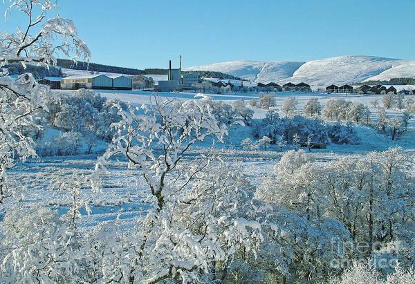 Photograph - Snowfall At Glenlivet by Phil Banks