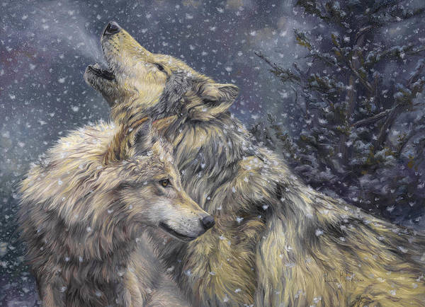 Wall Art - Painting - Snowfall by Lucie Bilodeau