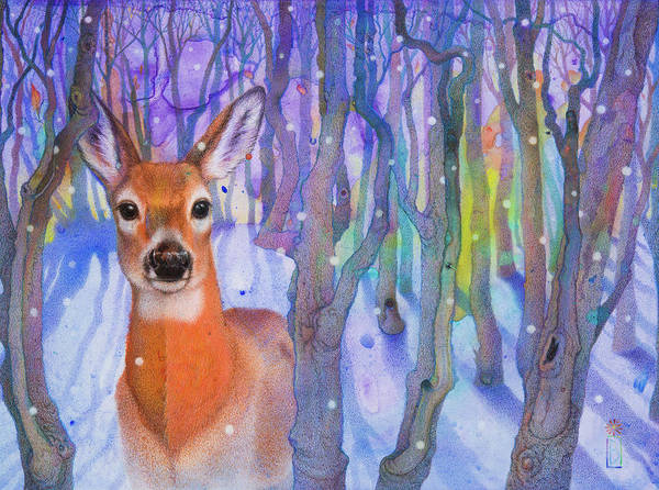 Painting - Snowfall by Lynn Bywaters