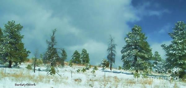 Photograph - Snowfall In Canyon by Roberta Byram