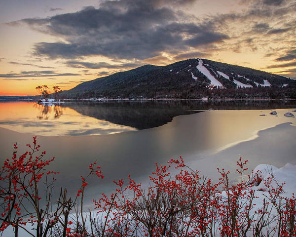 Photograph - Snowfall So Winter Has Begun by Darylann Leonard Photography