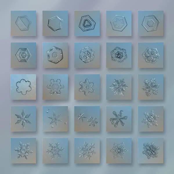 Snowflake Collage - Season 2013 Bright Crystals Art Print