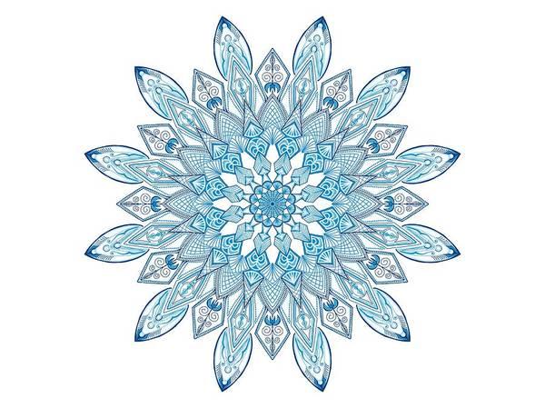 Digital Art - Snowflake Dreams by Lisa Schwaberow