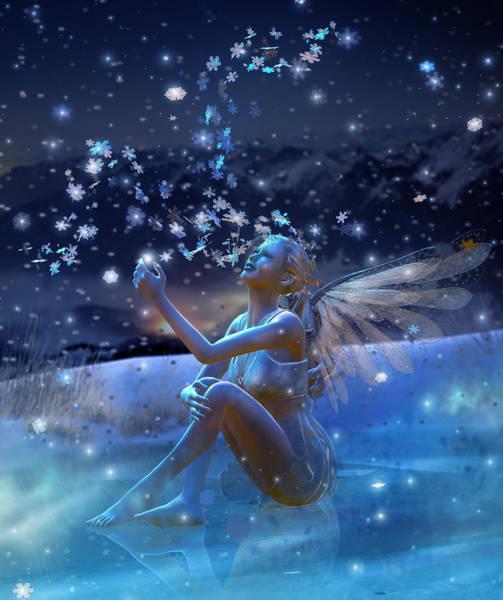 Xmas Digital Art - Snowflake by Karen Koski