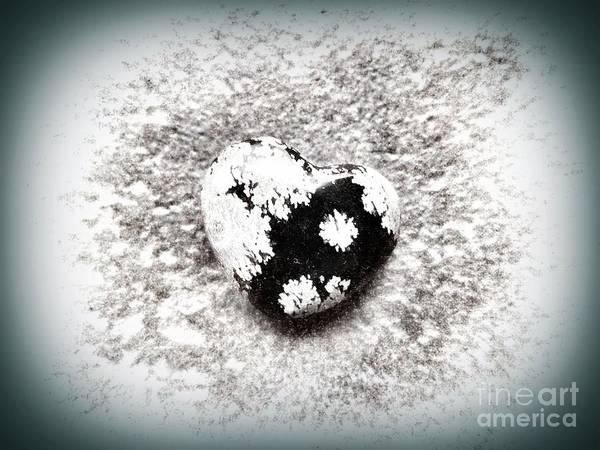 Photograph - Snowflake Obsidian  by Rachel Hannah