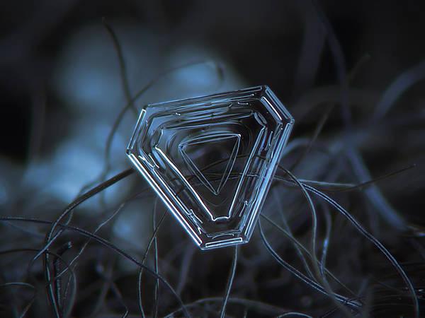 Snowflake Photo - Almost Triangle Art Print