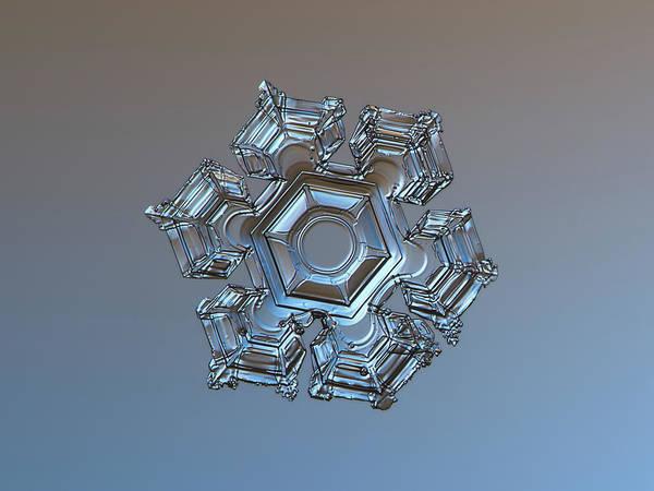 Snowflake Photo - Cold Metal Art Print