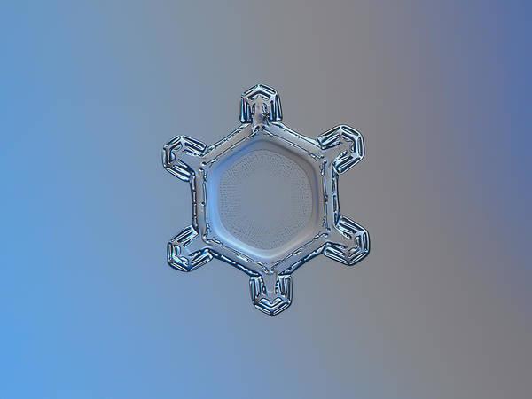 Photograph - Snowflake Photo - Dusty Mirror by Alexey Kljatov