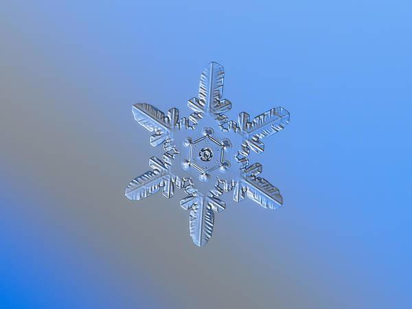 Photograph - Snowflake Photo - Heart-powered Star Alternate by Alexey Kljatov