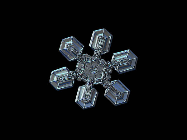 Photograph - Snowflake Photo - High Voltage II by Alexey Kljatov