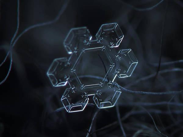 Snowflake Photo - Jewel Art Print