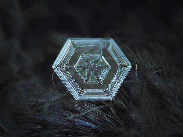 Snowflake Photo - Radiant Green Art Print