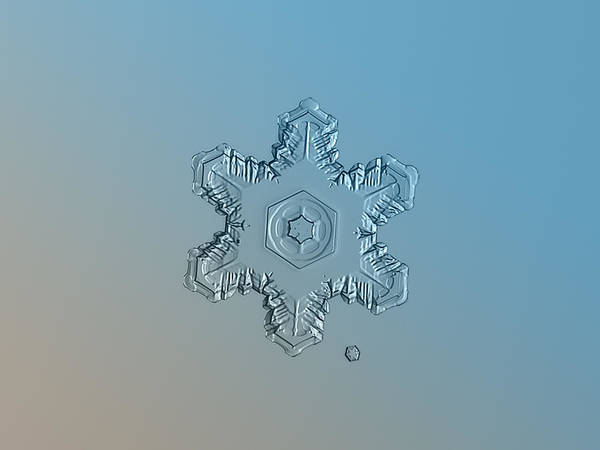 Photograph - Snowflake Photo - Relief by Alexey Kljatov