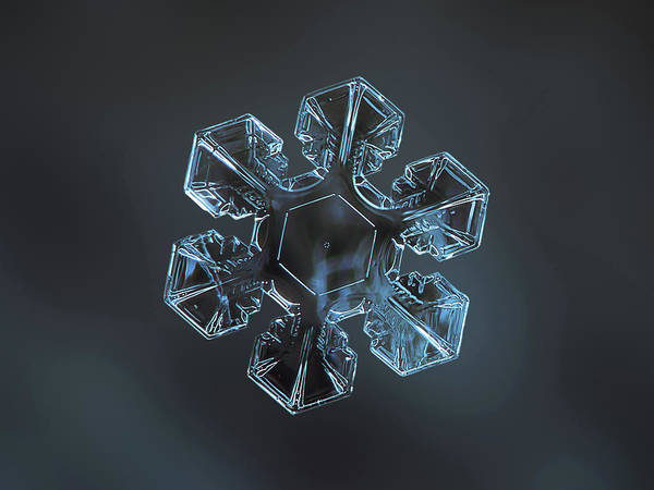 Photograph - Snowflake Photo - The Core 2 by Alexey Kljatov
