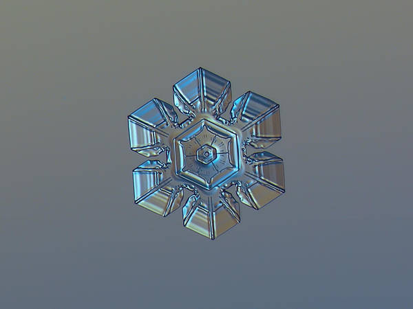 Photograph - Snowflake Photo - Winter Technologies by Alexey Kljatov