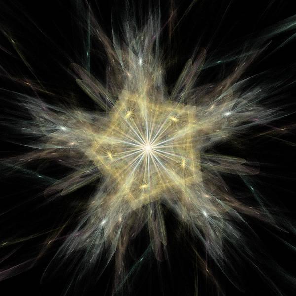 Recursion Wall Art - Digital Art - Snowflake by Thomas Pendock