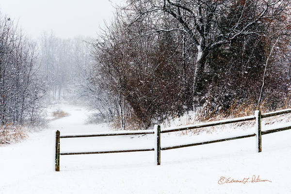 Photograph - Snowing And Blowing by Edward Peterson
