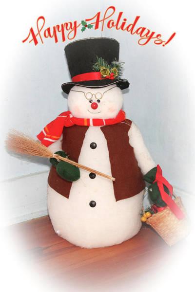 Photograph - Snowman by Eleanor Abramson