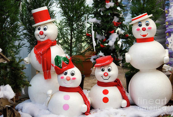 Photograph - Snowman Family by Jill Lang