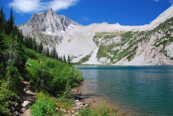 Photograph - Snowmass Lake With Snowmass Mountain by Cascade Colors
