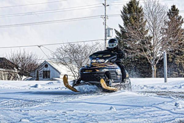 Photograph - Snowmobile Canada by Tatiana Travelways