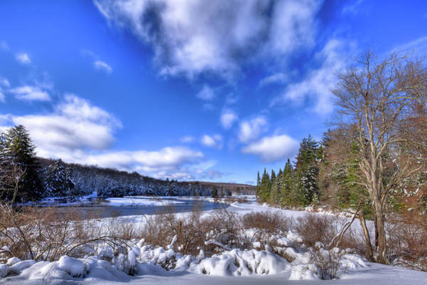 Photograph - Snowscape At The Green Bridge by David Patterson