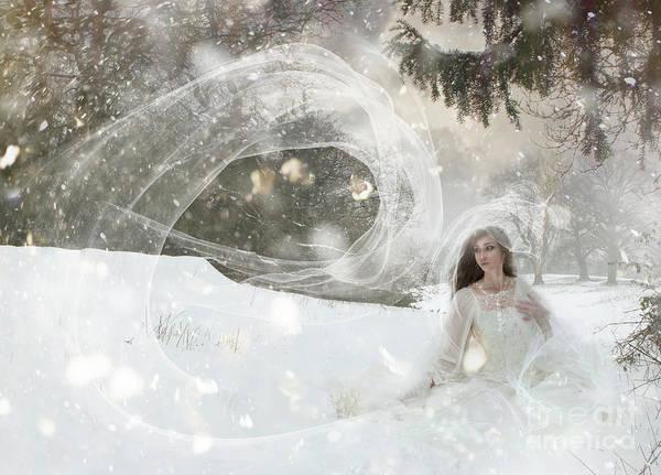 Wall Art - Digital Art - Snowstorm by Angel Ciesniarska