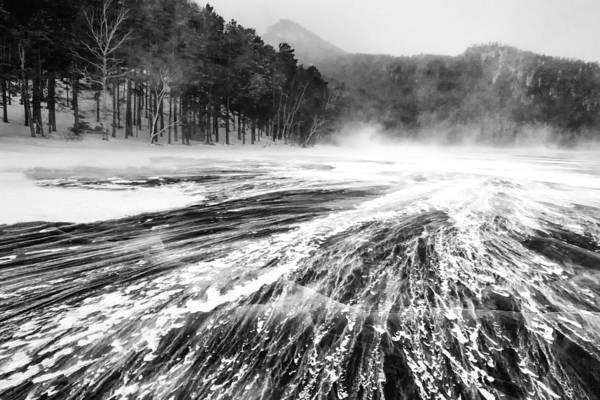 Photograph - Snowstorm by Hayato Matsumoto