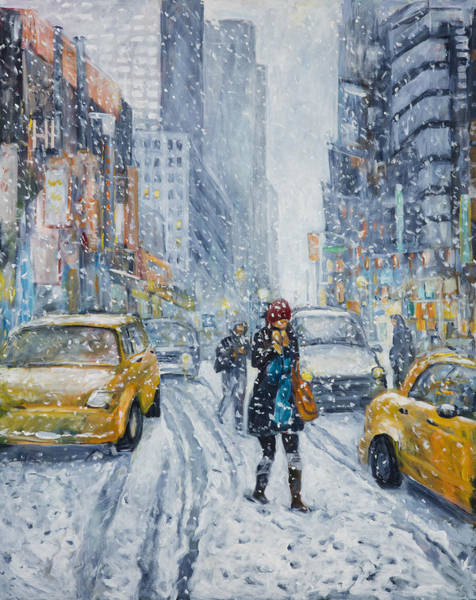 Painting - Urban Snowstorm by Ingrid Dohm
