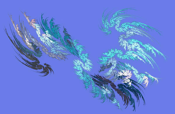 Digital Art - Snowstorm by Marina Usmanskaya