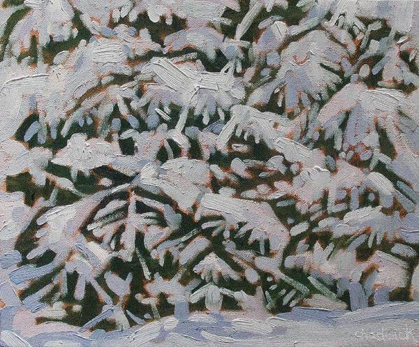 Watershed Painting - Snowstorm by Phil Chadwick