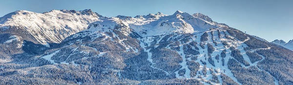 Photograph - Snowy Blackcomb Mountain Panorama by Pierre Leclerc Photography
